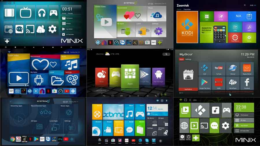 Different Android TV Box launchers