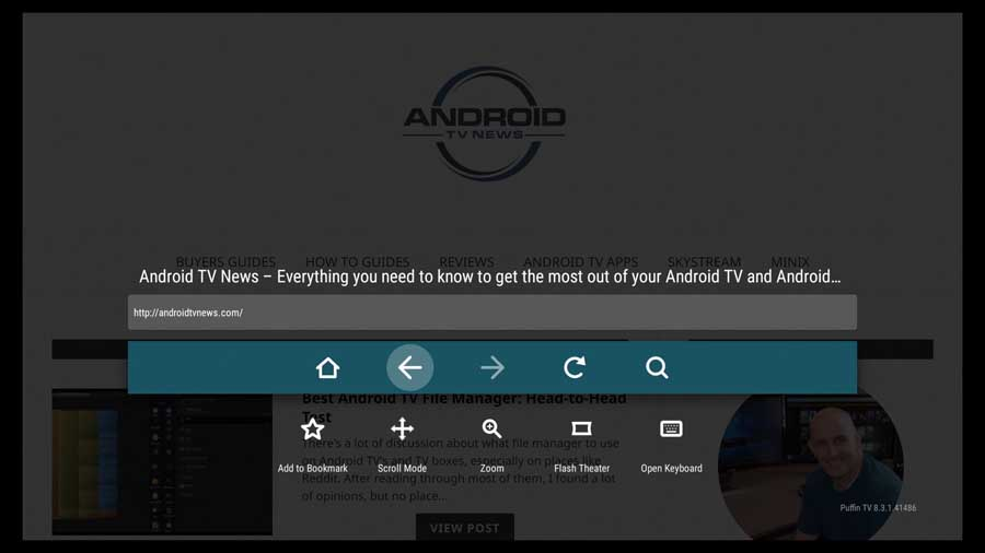 Puffin Android TV web browser