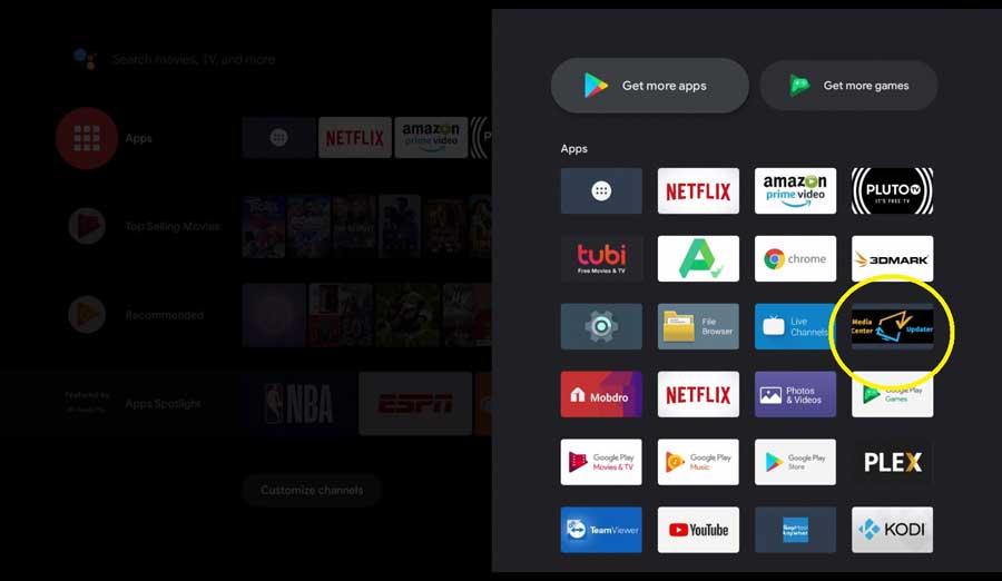 Updater App on SkyStream Pro