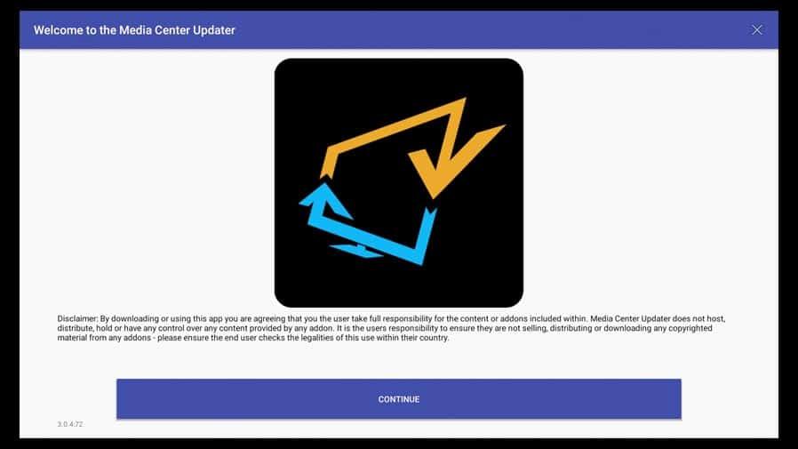 Update SkyStream TV box with the Media Center Update App