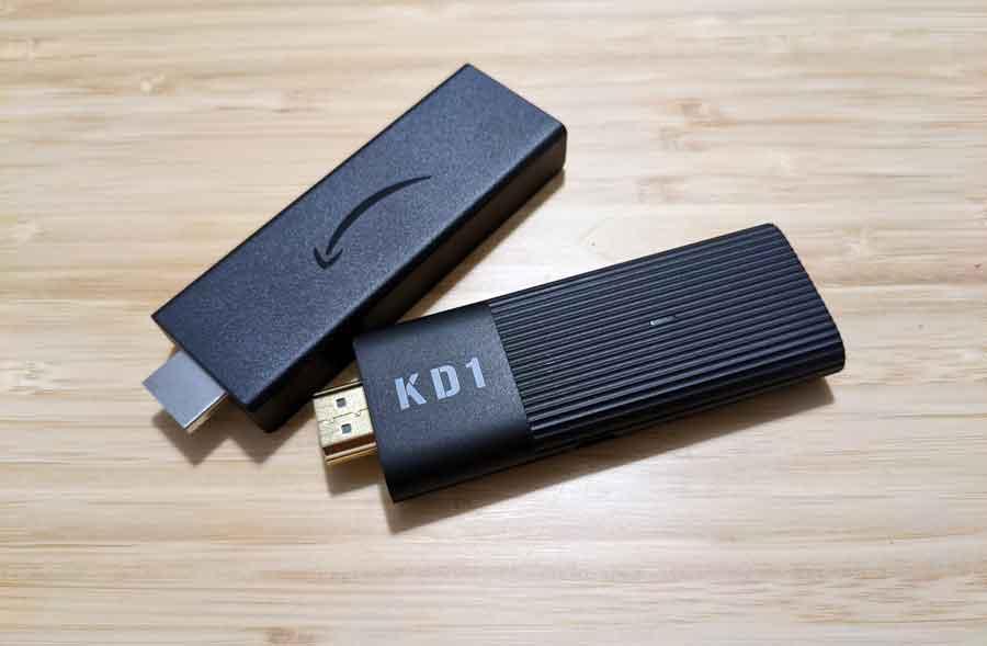 MeCool KD1 and Amazon FireTV Stick comparison