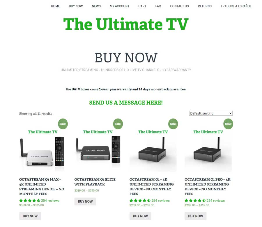 Ultimate Android TV website (4/15/2021)