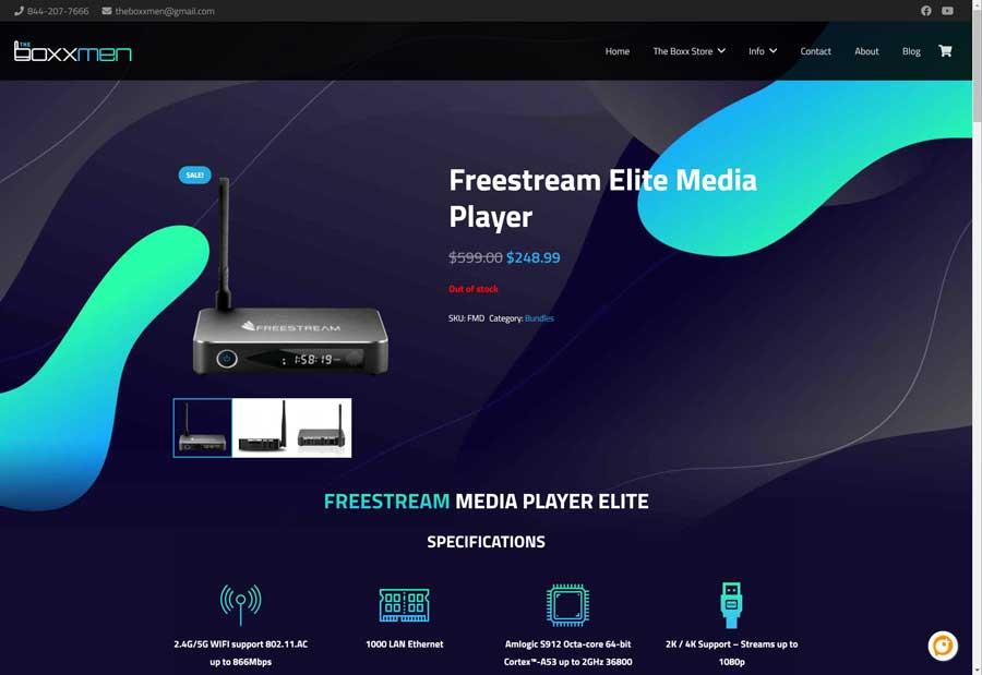 The Boxxmen website (4/15/2021)