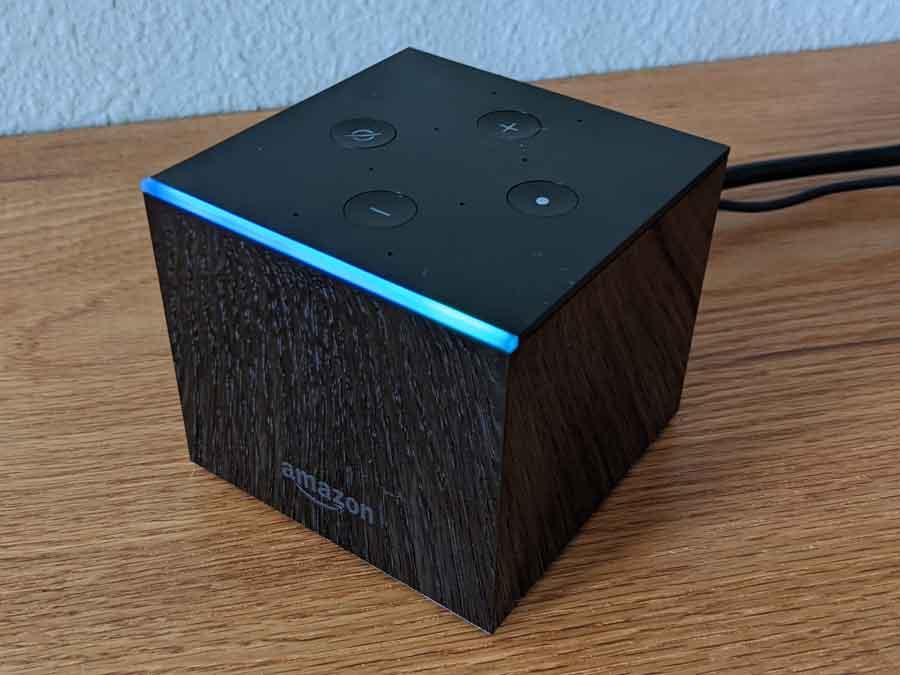 Amazon Fire TV Cube blue LED glow
