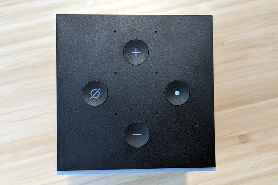 Amazon Fire TV Cube top buttons