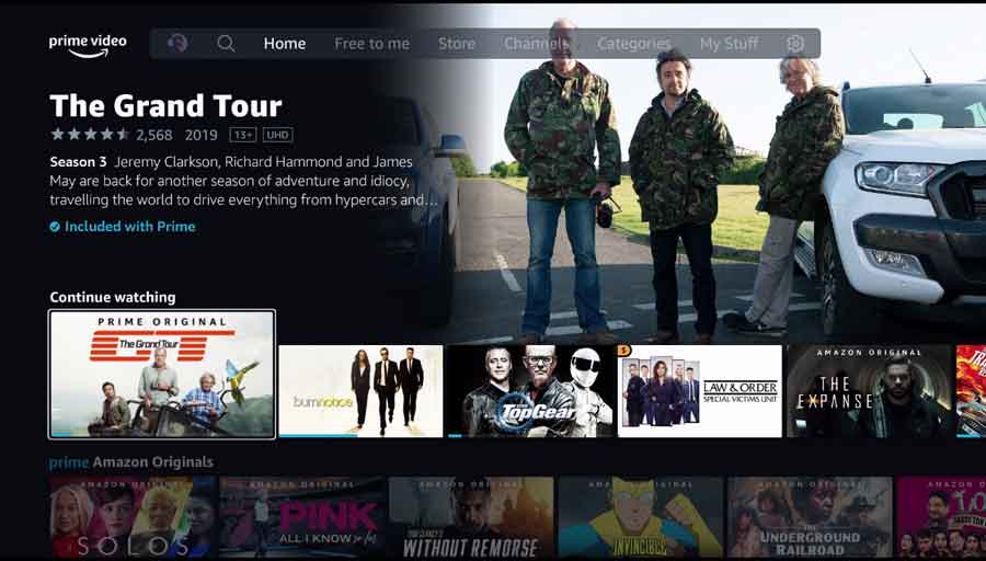 Amazon Prime Video on the Fire TV Cube