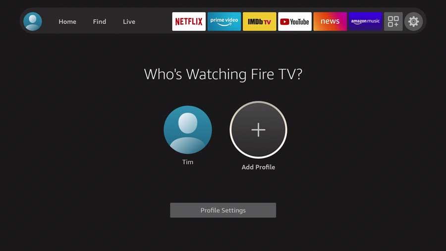 Fire TV OS profiles