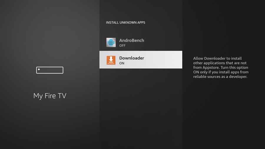 New FireStick UI: Enable Install Unknown Apps for Downloader