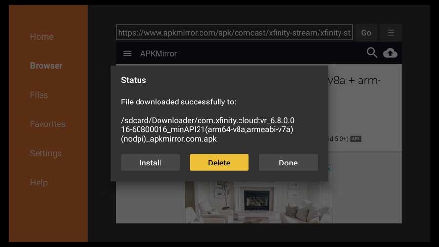 Delete APK file after installation.
