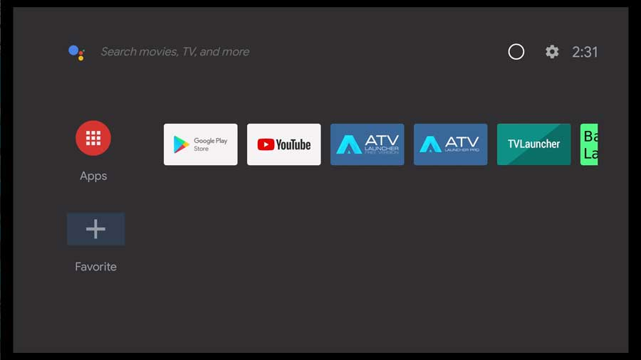 Basic Launcher for Android TV