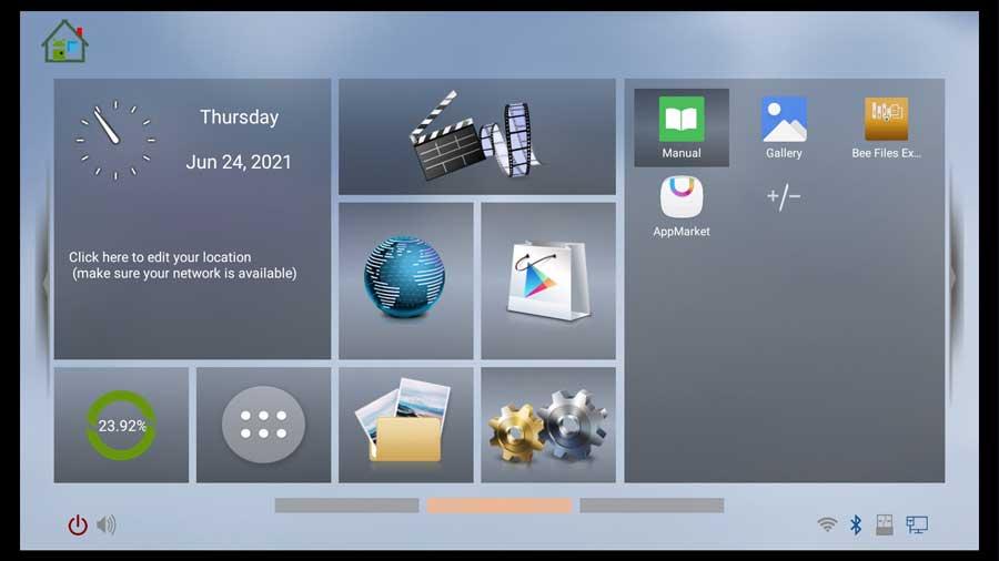Beelink GT-King Pro home screen