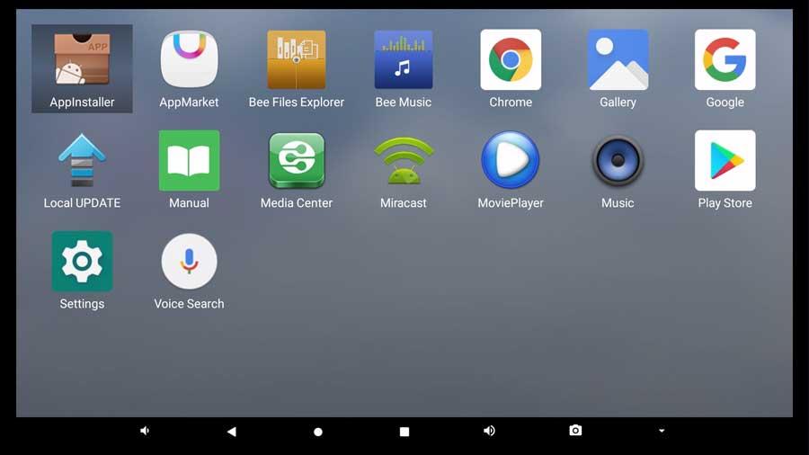 Beelink GT-King Pro app drawer