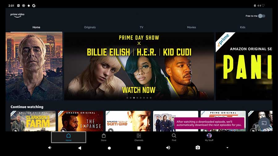 Amazon Prime Video on the Beelink GT-King Pro