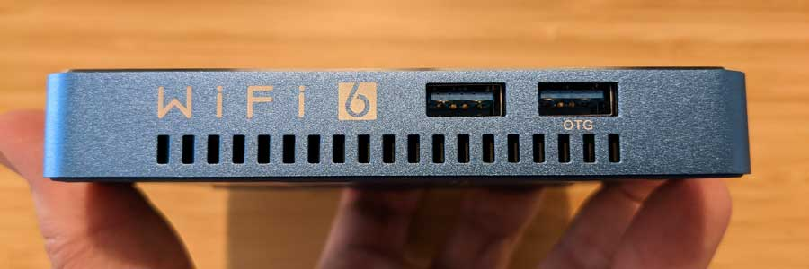 Beelink GT-King Pro: side ports
