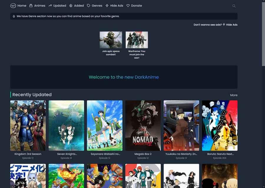 Best Anime Streaming Sites: DarkAnime