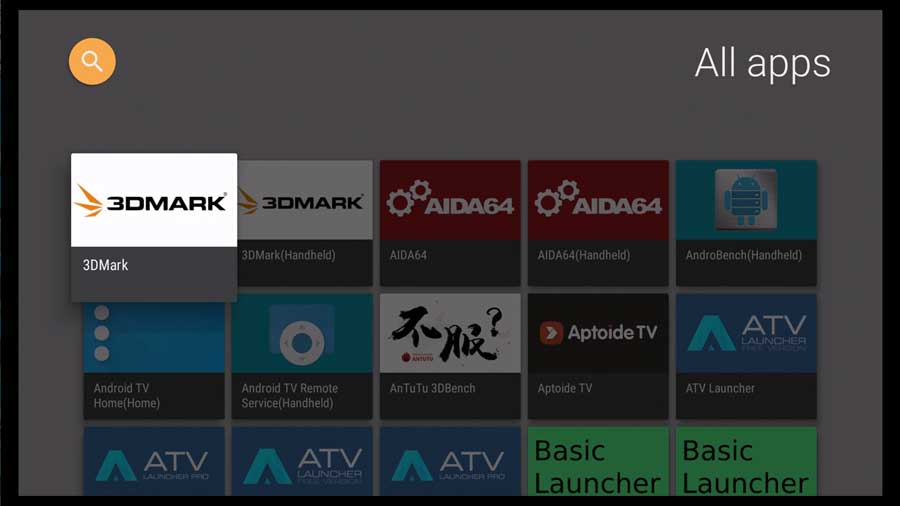 HALauncher for Android TV: All Apps section