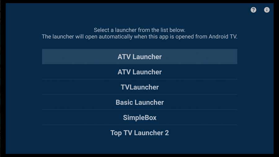 Change the launcher on Android TV with the Home Screen Launcher app