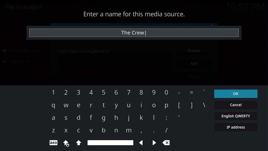 Naming the Media Source in Kodi 19