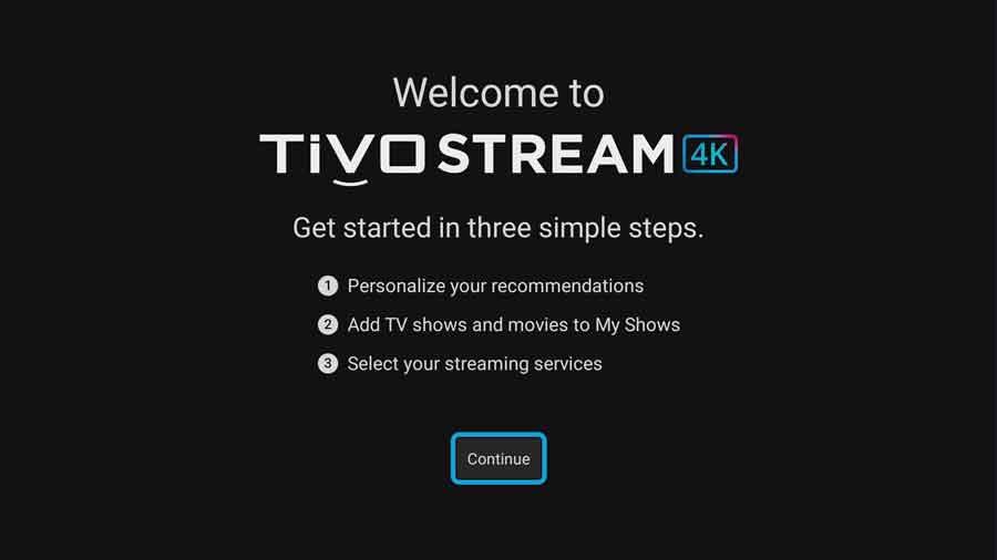 Register TiVo Stream 4K