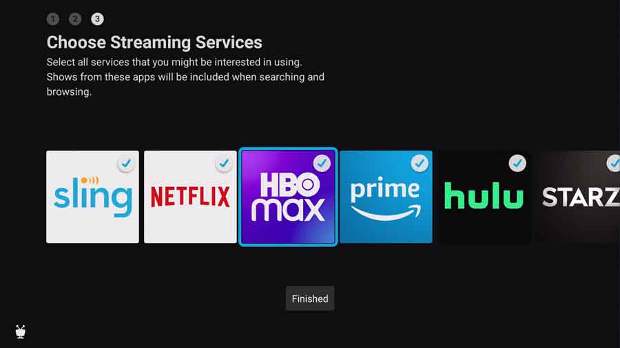 Choose streaming services