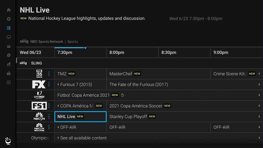 TiVo Stream guide