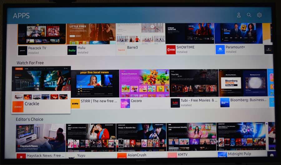 Samsung Tizen TV app store