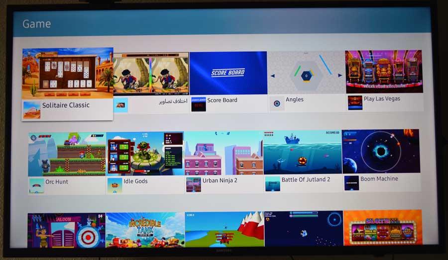 Gmaes on Samsung Tizen TV's