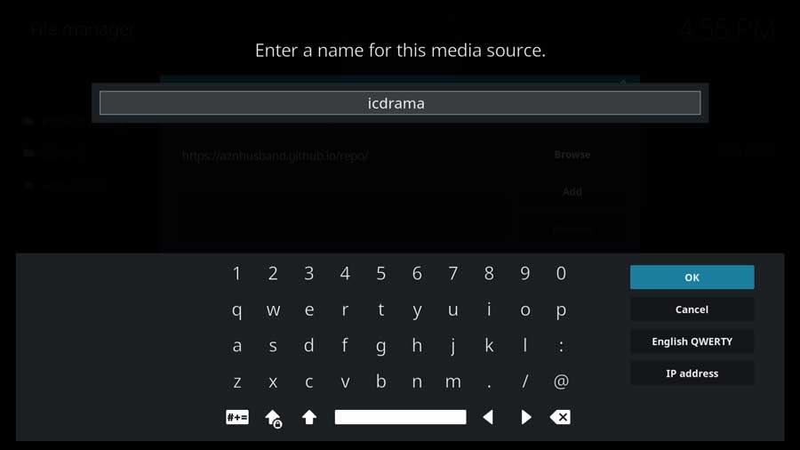 Kodi: name the file source