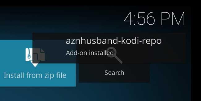 aznhusband Kodi repository installed