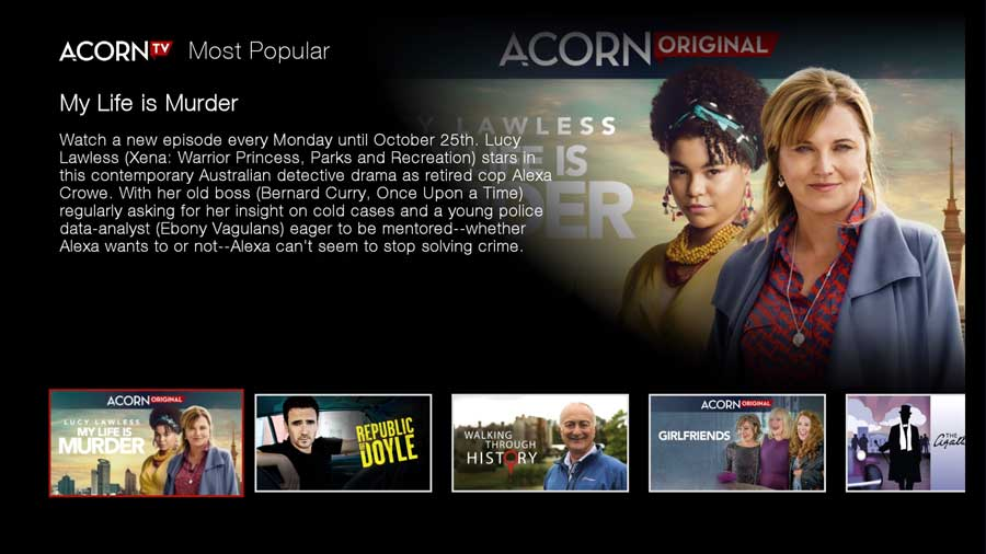 Acorn TV Most Popular content
