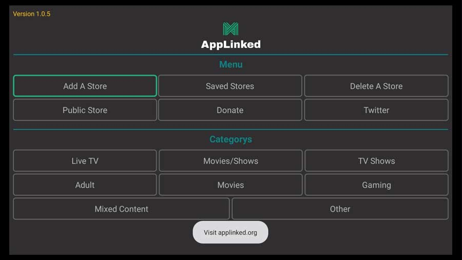 AppLinked app home screen