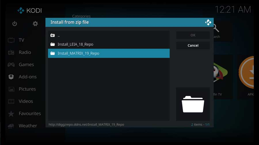 Choose the appropriate repository based on your version of Kodi