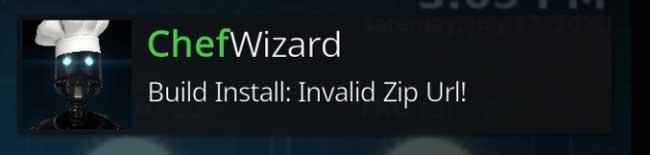 ChefWizard Build Install: Invalid Zip URL!