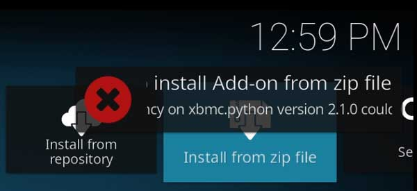 Add-on installation failed due to Python incompatibility