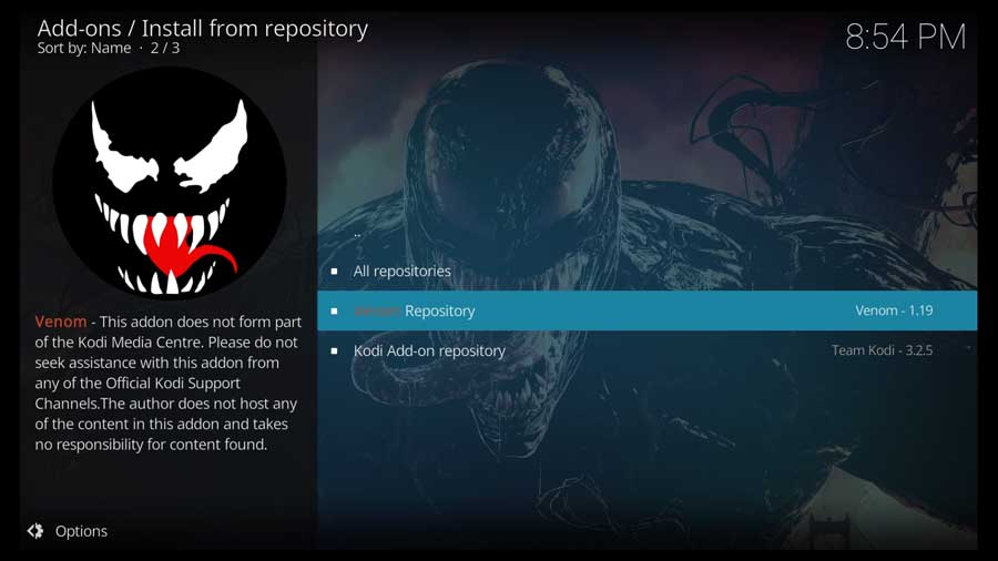 Choose Venom repository