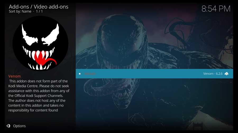Choose Venom addon