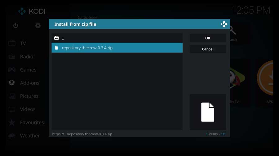 Click on The Crew repository zip file