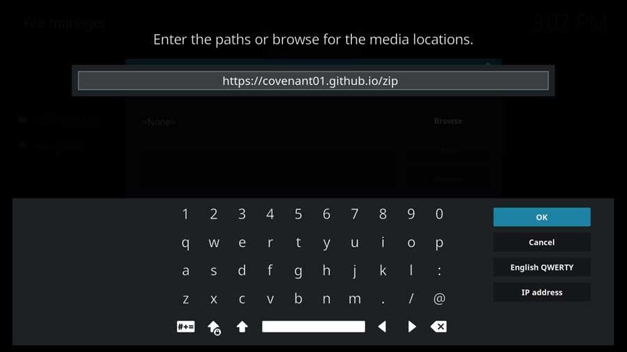 Add Covenant GitHub file source