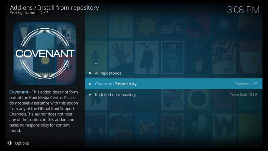 Choose the Covenant Repository